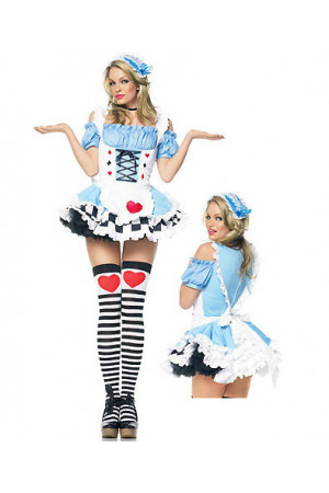 G146 Costum Halloween Alice in Tara Minunilor