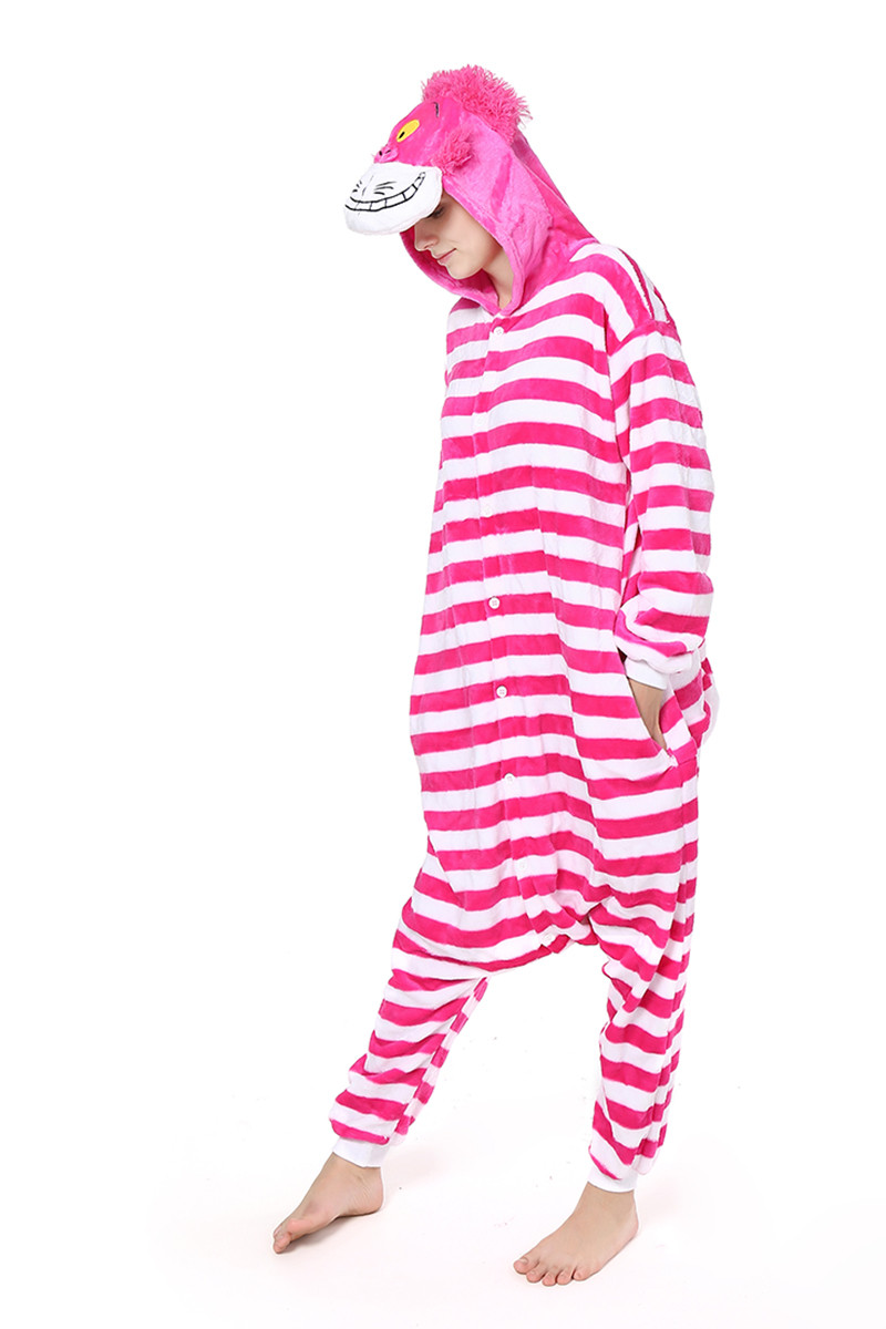 PJM35-552 Pijama kigurumi tip salopeta cu model Cheshire Cat