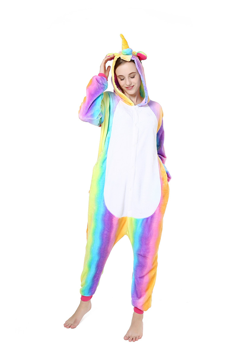 PJM58-59 Pijama intreaga kigurumi model unicorn multicolor