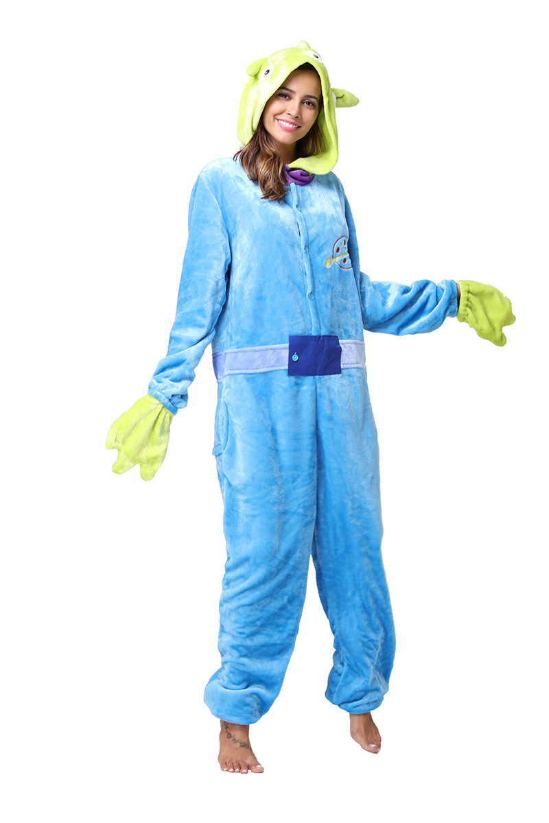 PJM62-412 Pijama intreaga kigurumi model Monster Blue