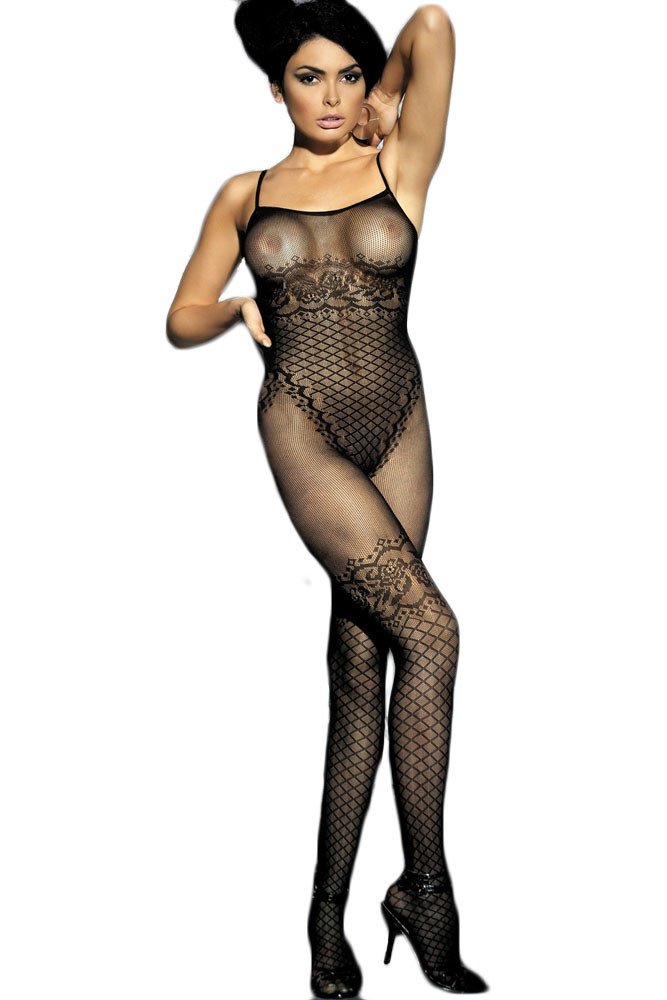 BS191-1 Bodystocking sexy cu model floral