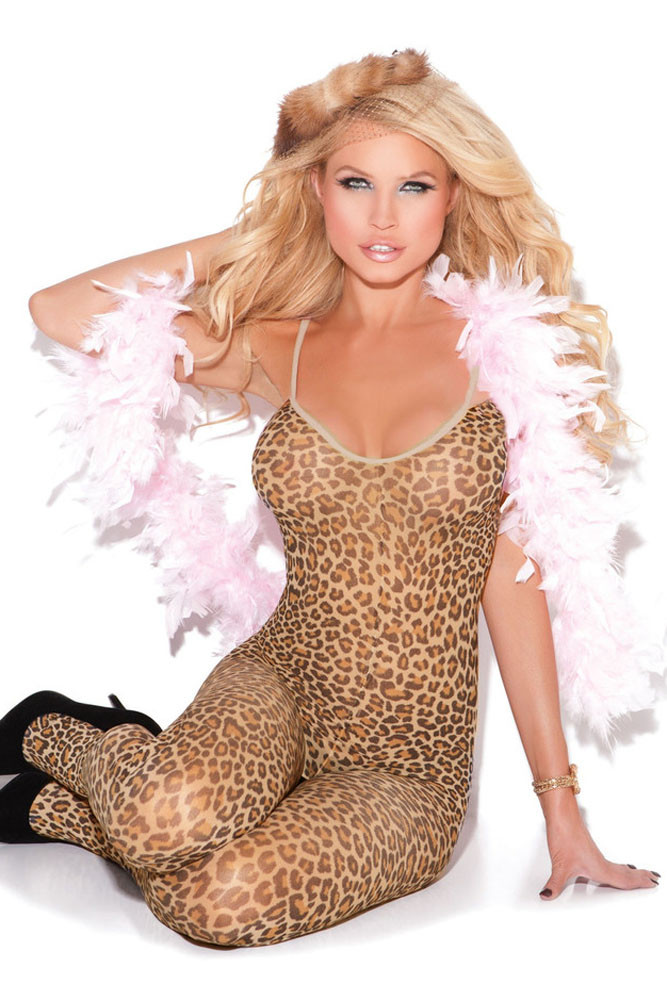 BS225-99 Lenjerie tip bodystocking, cu model animal print