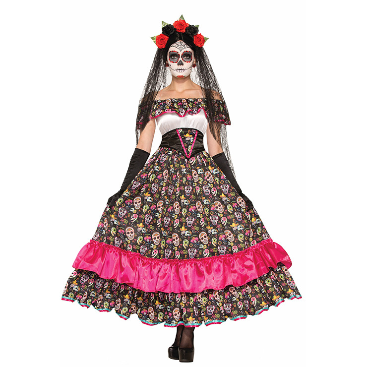 n499 costum tematic halloween - day of death