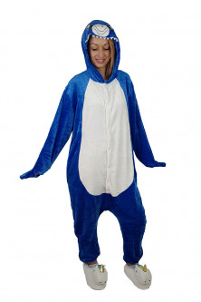 Outlet - PJM57A-441 Pijama intreaga kigurumi, model rechin albastru
