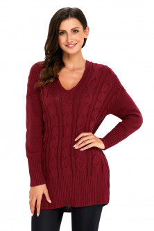 Haine sezon - A748-81 Pulover casual tricotat model oversize