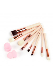 Make Up - AC1311-155 Set de 8 pensule si doi buretei pentru make-up