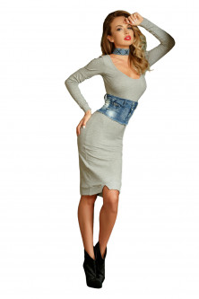 Made in ro - rochie gri