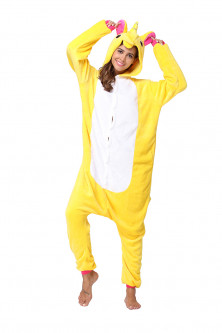 Outlet - PJM59-292 Pijama intreaga kigurumi, model uncorn galben