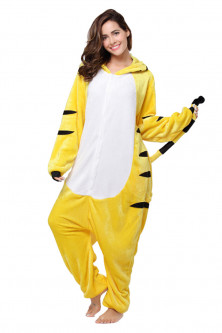 Outlet - PJM65-292 Pijama intreaga kigurumi, model tigru galben