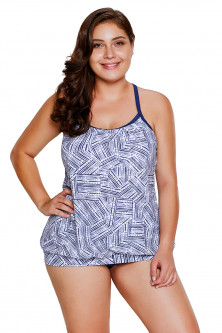 Tankini - SW1466-424 Costum de baie, stil tankini cu top si chilot normal
