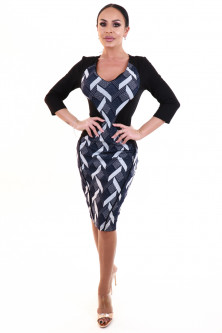 Office - V865-2891 Rochie office stil bodycon model in doua culori