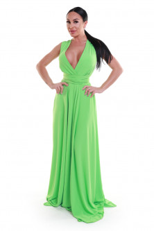 Events - Rochie verde lunga