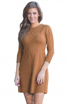 Weekly deals - A565-8 Rochie scurta, casual, stil pulover tricotat