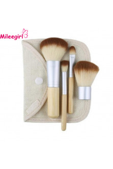 Make Up - AC1209 Set 4 pensule blending, cu maner din bambus