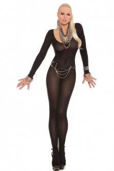 Bodystockings, catsuit - lenjerie neagra
