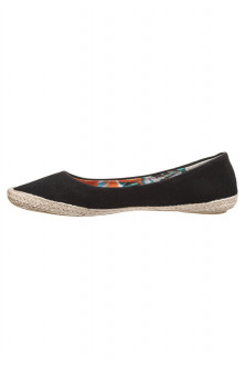 Balerini si slippers - CH2491-1 Espadrile negre din material textil
