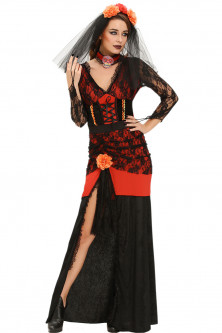 Femei - P544-115 Costum tematic Day of The Dead Diva