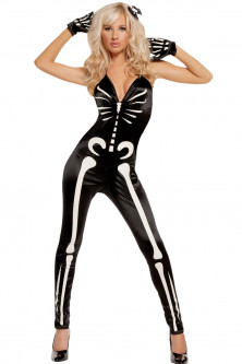 Femei - P548-1122 Costum tematic Sexy Glow Skeleton