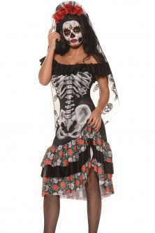 Femei - Q540 Costum tematic Halloween Queen of the Dead