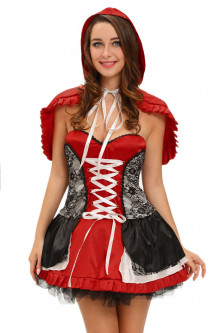 Halloween - R540-3 Costum tematic adulti Scufita Rosie