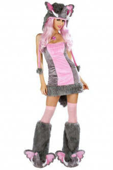 Animalute - W149 Costum Halloween elefant roz