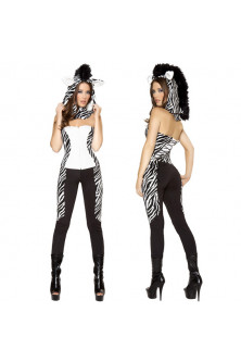 Animalute - X143 Costum Halloween salopeta zebra