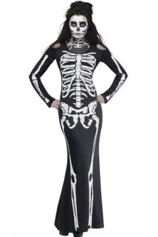 D393-1122 Costum tematic Halloween - model anatomic schelet